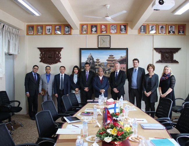 Nepali and Finnish delegations